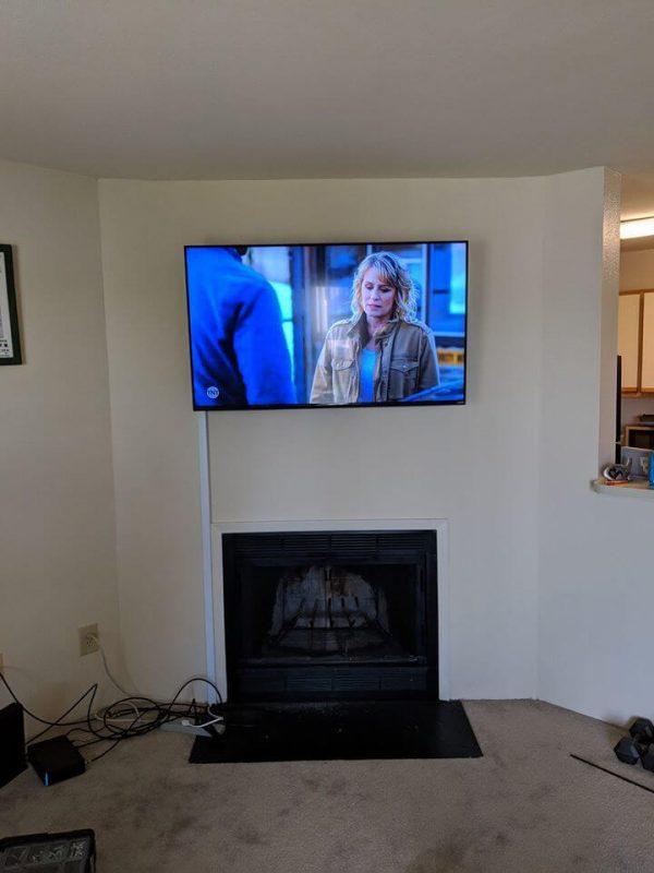 TV wall mount plastic cover conduit