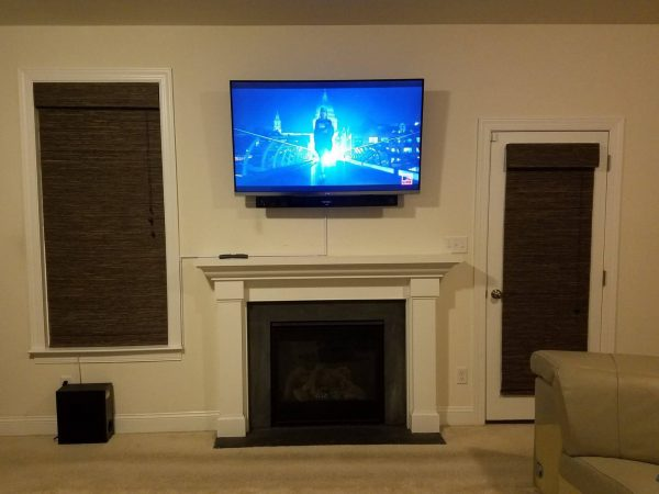above fireplace TV mounting conduit