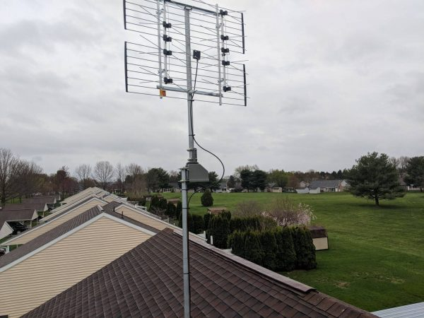 digital antenna roof installation