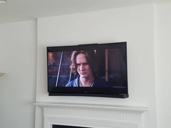 large TV and soundbar mount