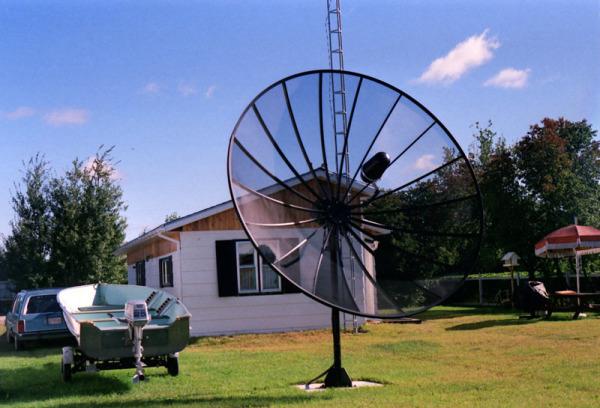 old large satellite dish